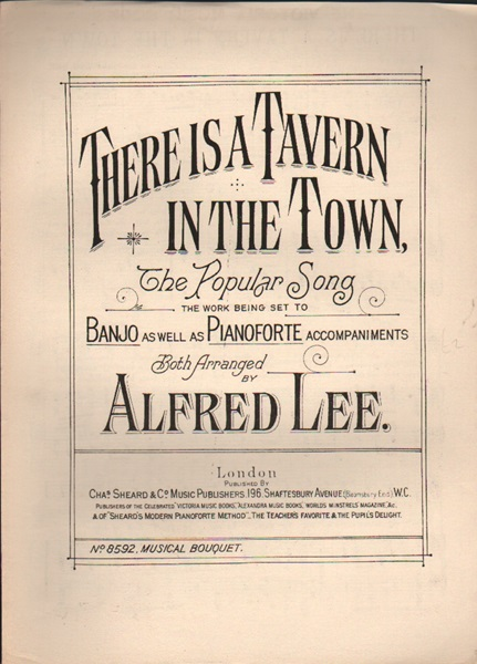 There is a Tavern in the Town - song & chorus