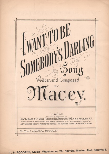 I want to be somebody's Darling - song