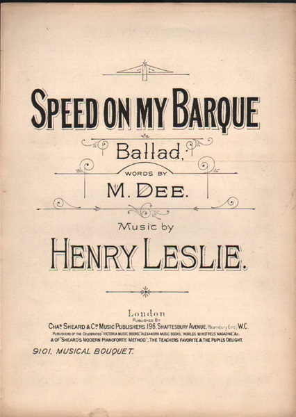 Speed on my Barque - Ballad