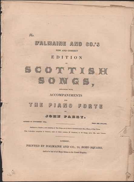 New and Correct edition of Scottish Songs - No.48