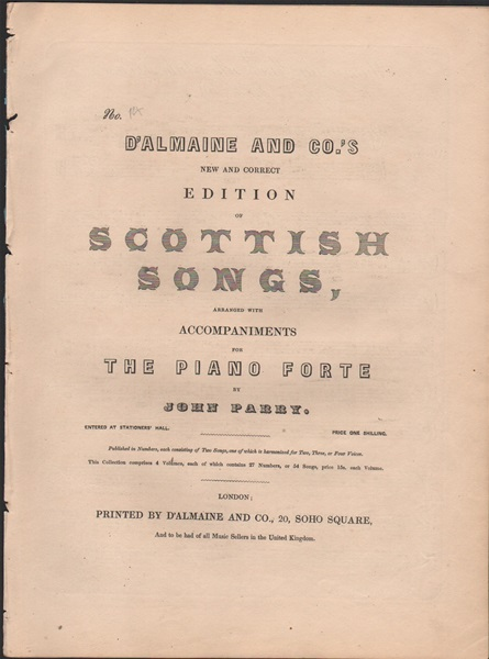 New and Correct edition of Scottish Songs - No.14