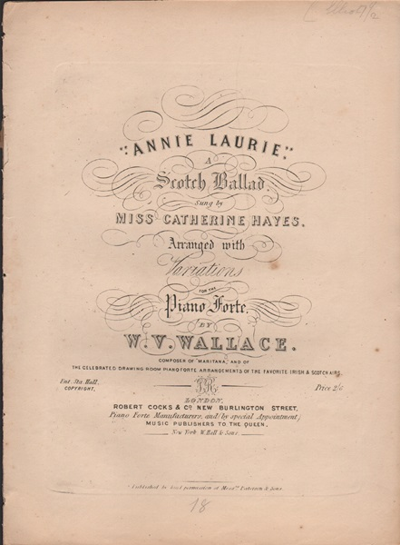 Annie Laurie - pf.with variations