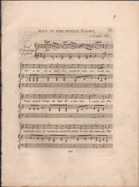 Oft in the stilly night & Hark! the Vesper Hymn is Stealing - Song & Glee