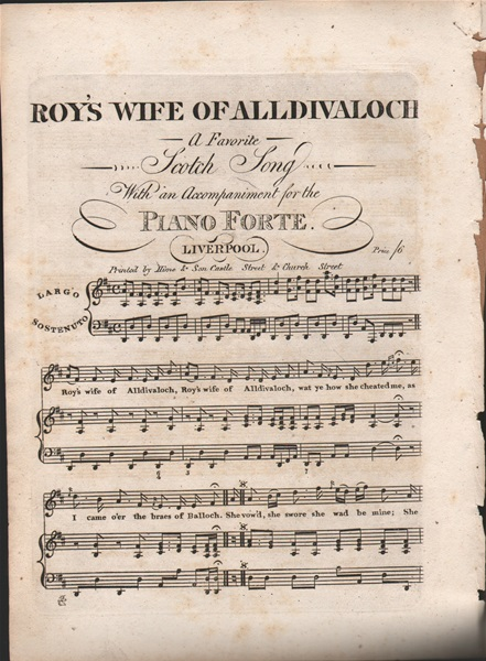 Roy's Wife of Alldivaloch - song