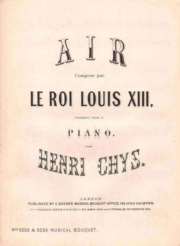 Air composed by Le Roix Louis X111 -fantasia
