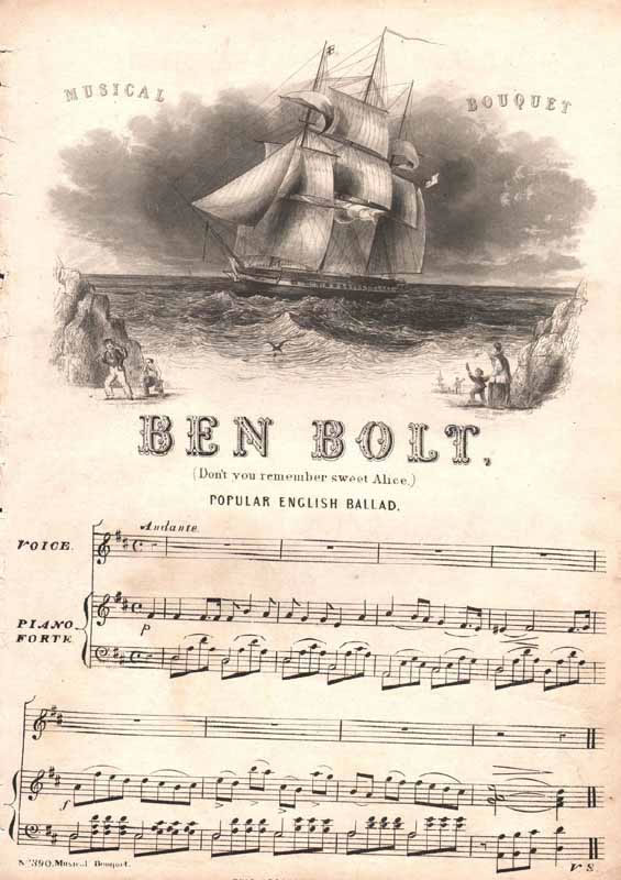 Ben Bolt - 'Oh! don't you remember sweet Alice,'