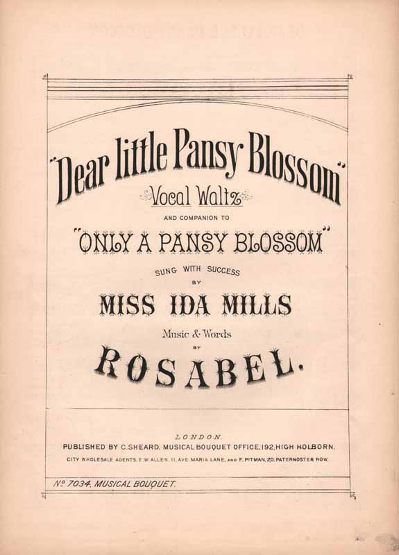 Dear little pansy blossom  -vocal waltz (Cz -6989d)