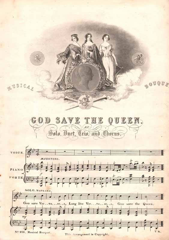 God Save the Queen as solo,duet,trio and ch.  [Nz]