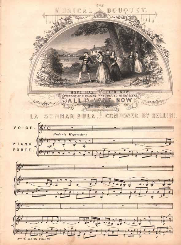 Hope has Fled now -from 'La Sonnambula'