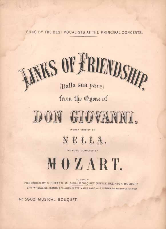 Links of friendship -from 'Don Giovanni'