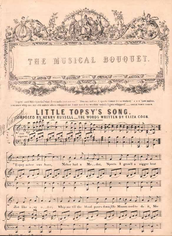 Little Topsy's Song  (from 'Uncle Tom's Cabin')