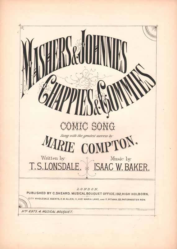 Mashers and Johhnies, Chappies and Gommies[Cz]