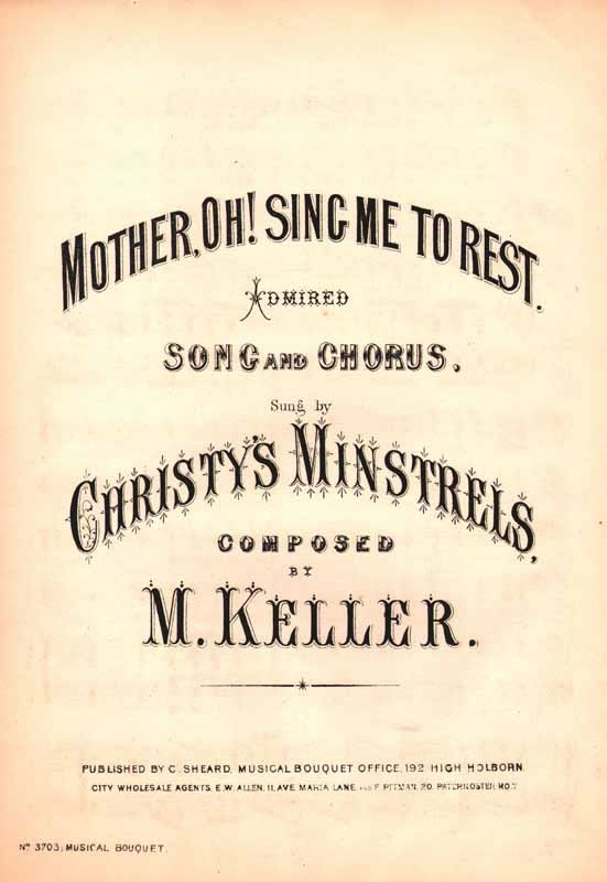 Mother, oh! sing me to rest
