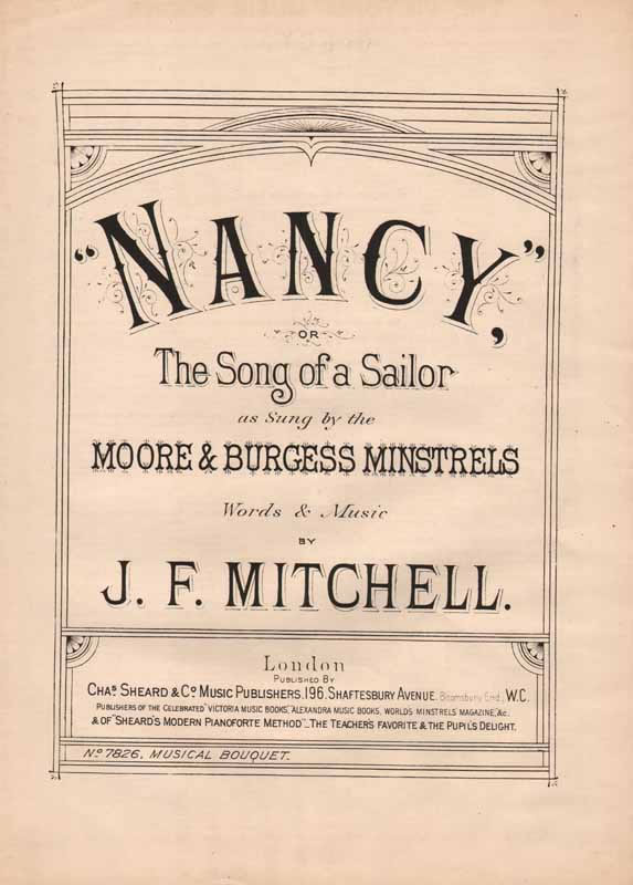 'Nancy' or 'The Song of a Sailor' - Christy song