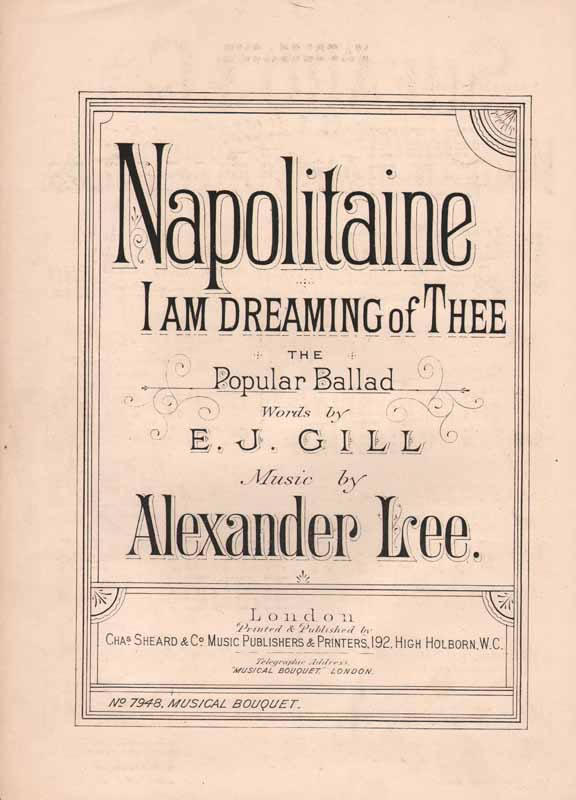 Napolitaine, I'm Dreaming of thee