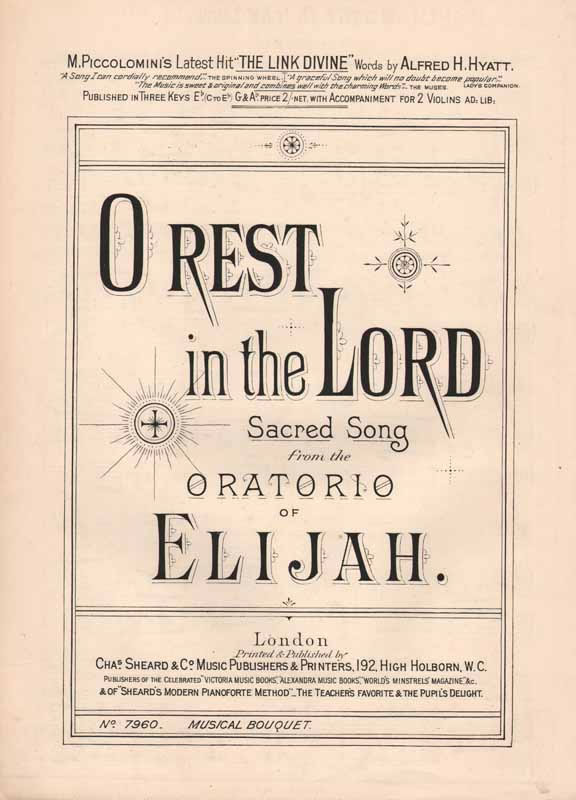 O Rest in the Lord  (from 'Elijah')                    [Sz]
