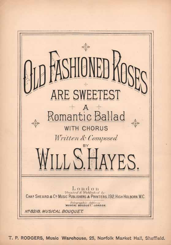 Old-fashioned roses are sweetest