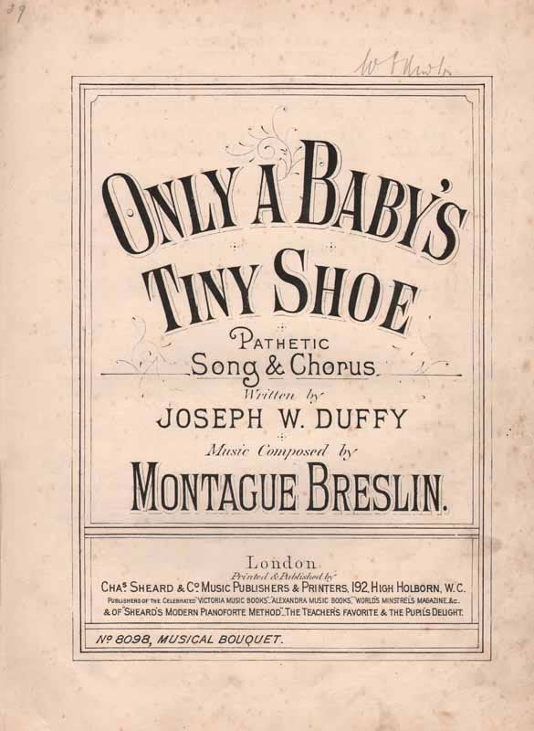 Only a Baby's Tiny Shoe        (Christy song)