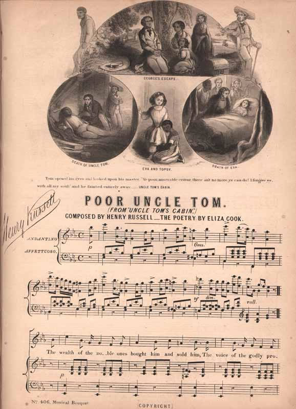 Poor uncle Tom   from 'Uncle Tom's Cabin'