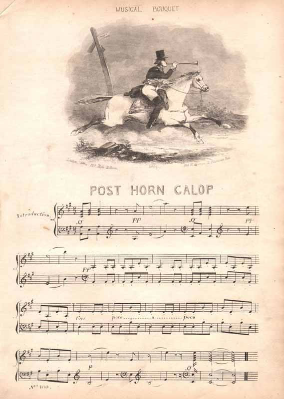 a.The Post-horn Galop  b.The Anna Maria Galop
