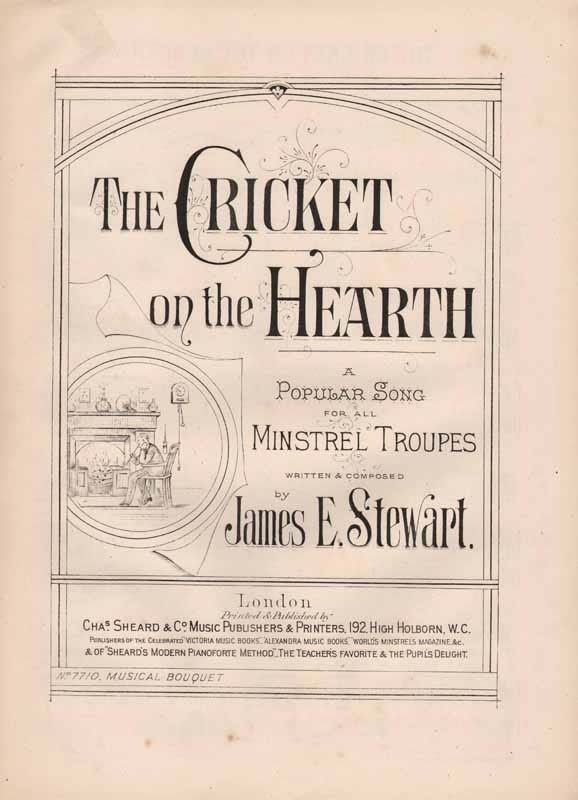 The Cricket on the Hearth  sung in 'My Sweetheart'