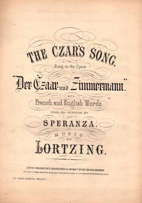 The Czar's song   -from 'Der Czaar'