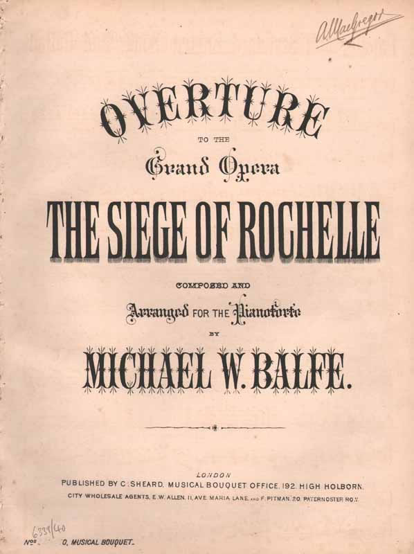 'The Siege of Rochelle' - Overture