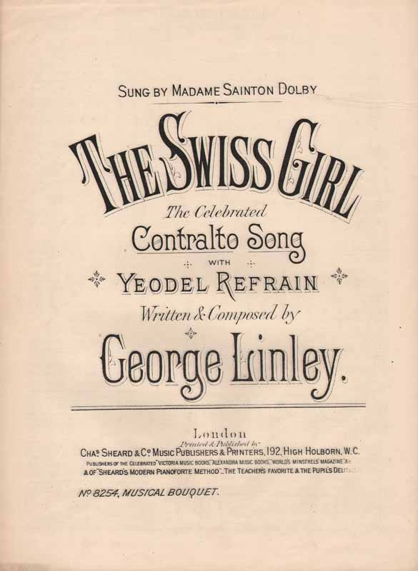 The Swiss Girl         - with yodel refrain
