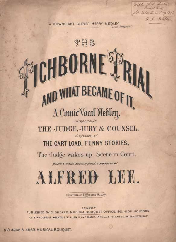 The Titchborne Trial and what became of it      [Cz]