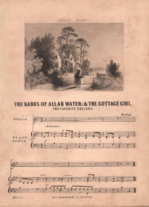 a.The Banks of Allen water  b.The Cottage Girl