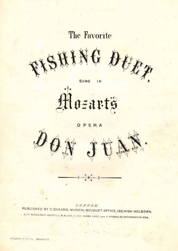 The Fishing Duet from 'Don Juan'