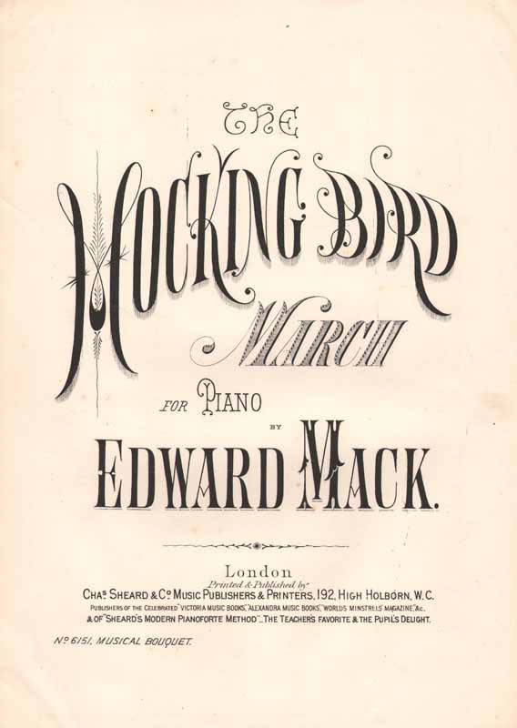 The Mocking Bird March