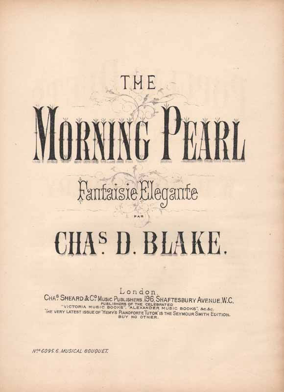 The Morning Pearl  -fantaisie élégante