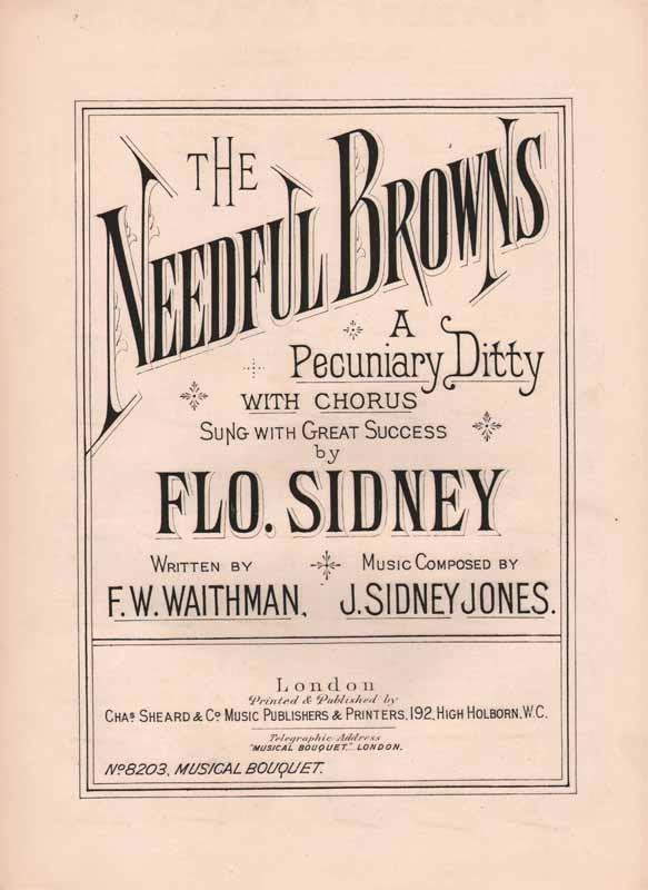 The Needful Browns - a pecuniary ditty            [Cz]