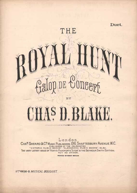 The Royal Hunt  -grand galop de concert