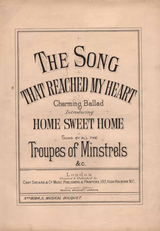 The song that reached my heart(Home Sweet Home) (Christy's song)