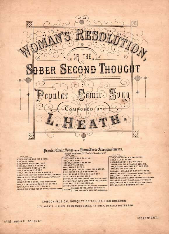 Woman's resolution,orThe sober second thought[Cz]